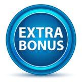 Extra Bonus Eyeball Blue Round Button vector illustration