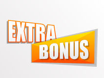 Extra bonus in flat design label Royalty Free Stock Photography