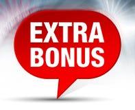 Extra Bonus Red Bubble Background royalty free illustration