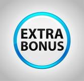 Extra Bonus Round Blue Push Button. Extra Bonus Isolated on Round Blue Push Button stock illustration