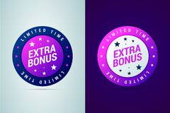 Extra bonus medal, limited time offer. Vector illustration in modern gradient style vector illustration