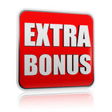 Extra bonus red banner Royalty Free Stock Photos