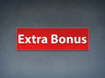 Extra Bonus Red Banner Abstract Background royalty free illustration