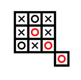 Extra box tic tac toe. Board game vector illustration