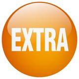 Extra button. Extra round button isolated on white background. extra royalty free illustration