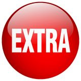 Extra button. Extra round button isolated on white background. extra vector illustration