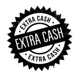 Extra Cash rubber stamp Stock Images