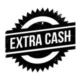 Extra Cash rubber stamp Royalty Free Stock Photo