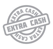 Extra Cash rubber stamp. Grunge design with dust scratches. Effects can be easily removed for a clean, crisp look. Color is easily changed vector illustration