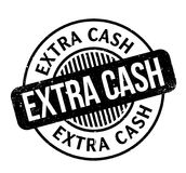 Extra Cash rubber stamp. Grunge design with dust scratches. Effects can be easily removed for a clean, crisp look. Color is easily changed royalty free illustration