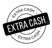 Extra Cash rubber stamp Royalty Free Stock Images