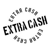 Extra Cash rubber stamp Stock Image