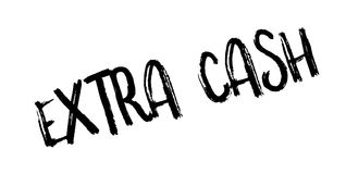 Extra Cash rubber stamp Stock Photos
