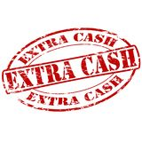 Extra cash. Rubber stamp with text extra cash inside, illustration vector illustration