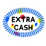EXTRA CASH stamp on white. Background. Signs and symbols series vector illustration