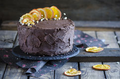 Extra chocolate cake Stock Images