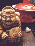 Extra closeup, the tea god statue, the tea ceremony, royalty free stock images