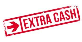 Extra Contant geld rubberzegel Royalty-vrije Stock Fotografie