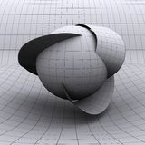 Extra dimensions. A computer graphic illustration of the spatial extra dimensions postulated by string theory royalty free illustration