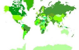Extra gedetailleerde kaart van de wereld Royalty-vrije Stock Afbeeldingen