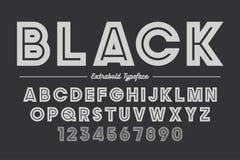Extra Gewaagd vector decoratief gewaagd doopvontontwerp, alfabet, typefac Stock Fotografie