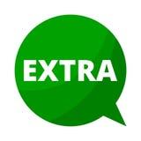 Extra-, grüne Sprache-Blase vektor abbildung