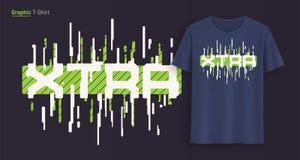 extra Grafischer T-Shirt Entwurf, Typografie, Druck mit stilisiertem Text stock abbildung