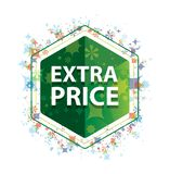 Extra het patroon groene hexagon knoop van Prijs bloemeninstallaties royalty-vrije illustratie