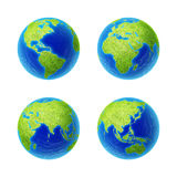 Extra highres globes Stock Images