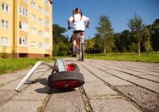 Extra hjul till cykeln Royaltyfria Bilder