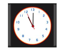 Extra hour in the day clock - black Royalty Free Stock Photo