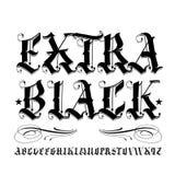 Extra il nero Fotografia Stock