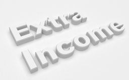 Extra income. 3d Extra income rendered high Royalty Free Stock Photos