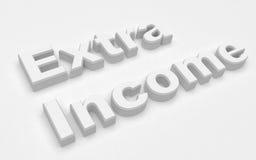 extra inkomst vektor illustrationer