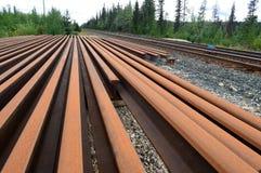 Extra- järnvägspår Arkivbild