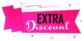 Extra Kortingsmarkering, de ontwerpsjabloon van de Verkoopbanner, snelle aanbieding, kortingsmarkering, bevorderingsapp pictogram royalty-vrije illustratie