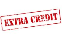 Extra Krediet royalty-vrije illustratie
