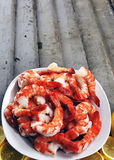 Extra Large Cooked Prawns Royalty Free Stock Photo