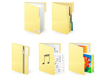 Extra-large icon of folders Stock Photography