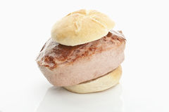 Extra large Meatloaf bun Royalty Free Stock Images