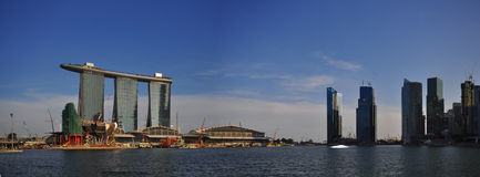 Extra large Paranoma pic of Singapore landscape Royalty Free Stock Images