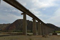 Extra large railway bridge Stock Photos