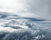 Extra Large sized Clouds taken from air plane stock photography