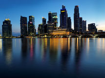 Extra large Sunset picture of Singapore landscape Stock Photo