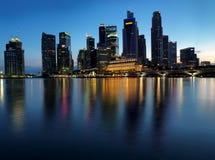 Extra large Sunset picture of Singapore landscape Stock Photo