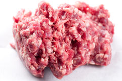 Extra lean ground beef. Hamburger meat, hand ground extra lean ground beef Royalty Free Stock Photography