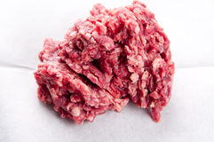 Extra lean ground beef. Hamburger meat, hand ground extra lean ground beef Royalty Free Stock Photo