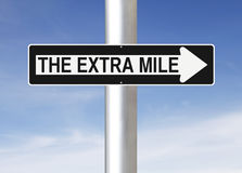 The Extra Mile This Way Stock Photo