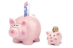 Extra money - Piggy Bank Stock Photos