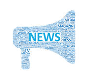 Extra News Megaphone Concept Royalty Free Stock Photos